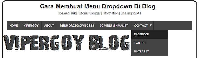 Cara Membuat Menu Bar Dropdown Horizontal Di Blog Dengan Mudah dan Keren SEO Friendly