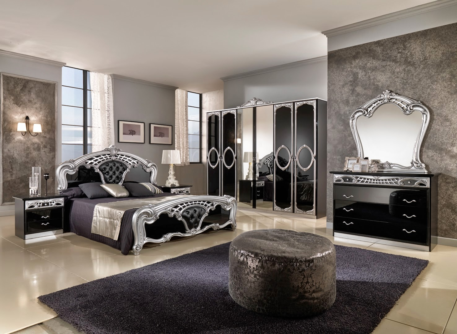 chambre style design. Black Bedroom Furniture Sets. Home Design Ideas