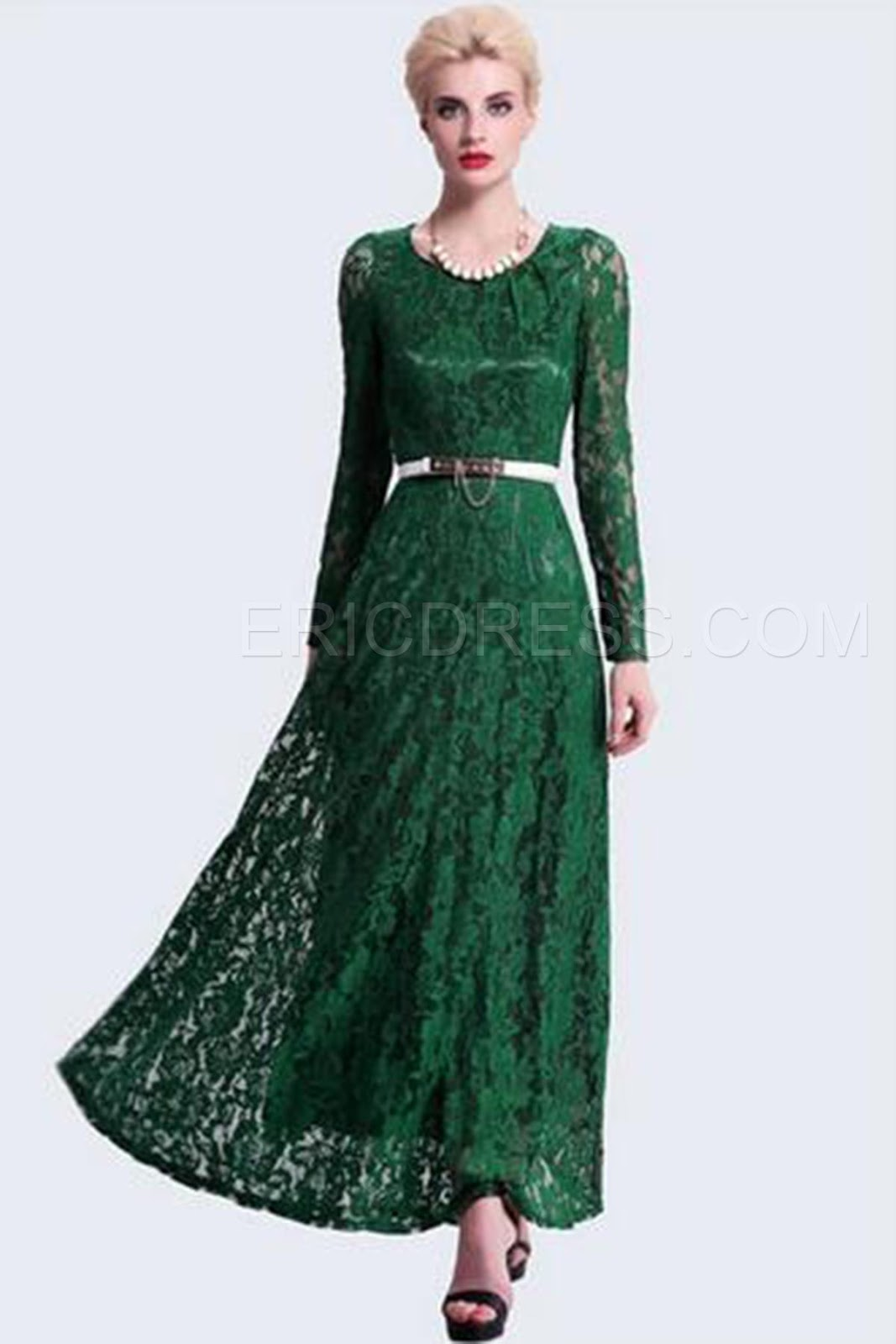 http://www.ericdress.com/product/Gorgeous-Green-Round-Neck-Long-Sleeve-Jacquard-Lace-Maxi-Dress-10978845.html