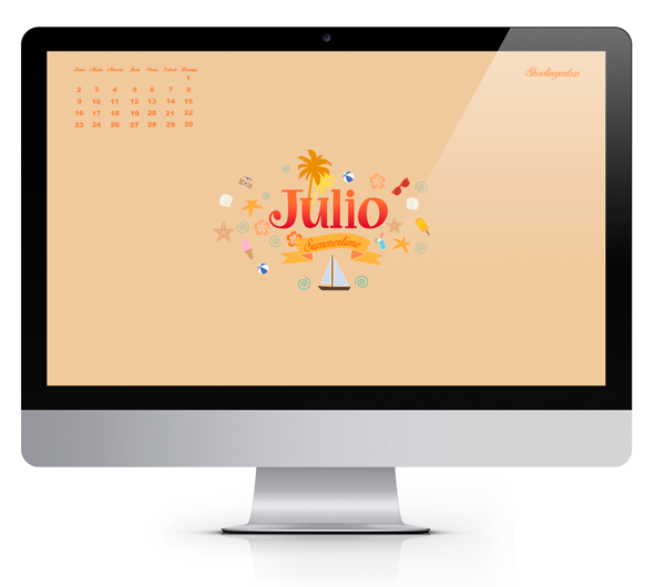 wallpaper calendario Julio