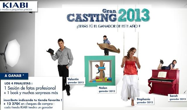 GRAN CASTING KIABI 2013 NIÑOS Y JOVENES