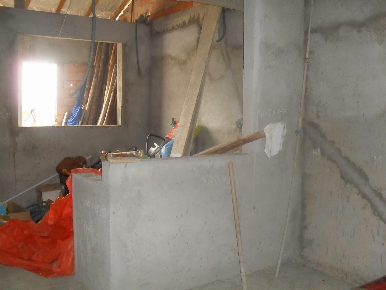 cozinha da sala de jantar e que será a bancada com pedra de granito #B0321B 1600 1200