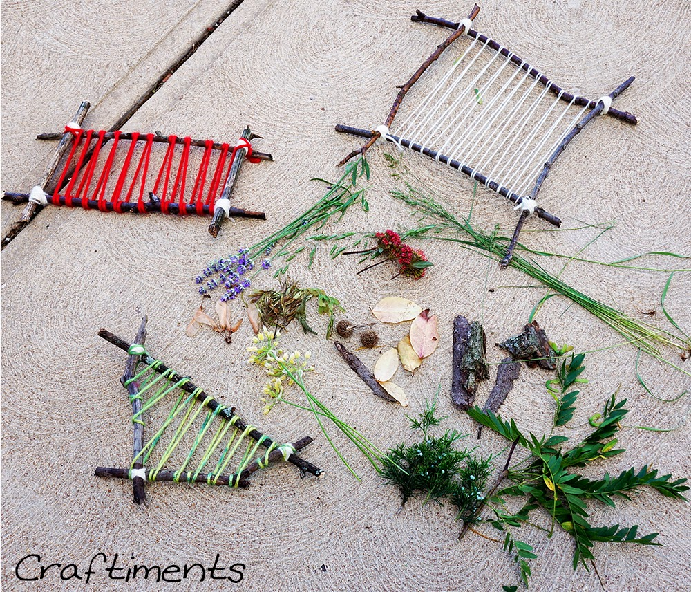 treasures collected on a nature walk