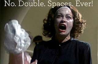 No Double Spaces After Periods Ever! from Mommy Dearest Typing