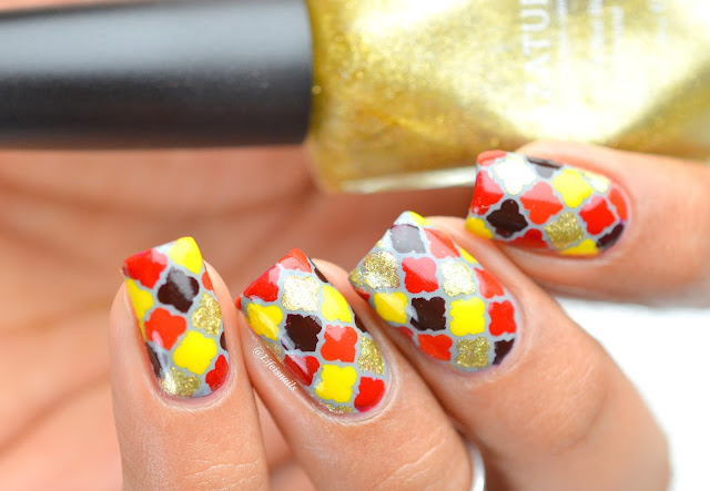 Fall Moroccan nail art