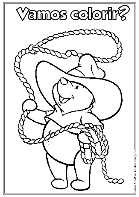Desenho do Pooh para colorir