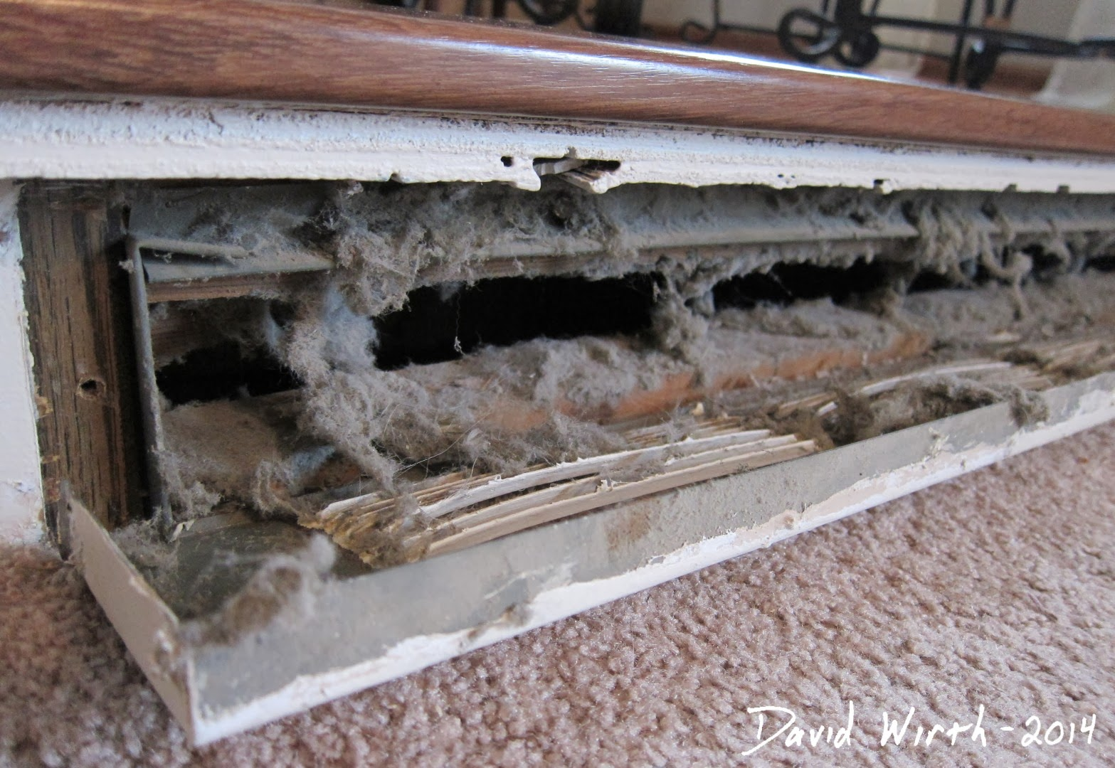 clean dusty cold air return heat vents, how to, breathe