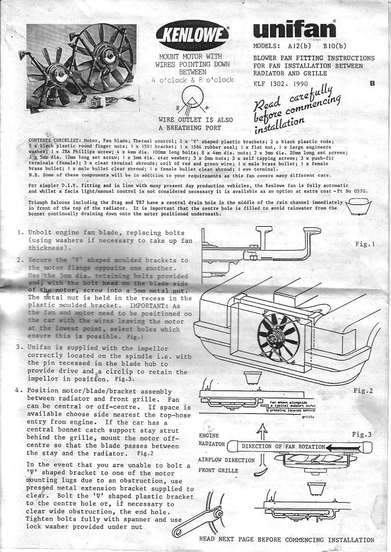 How to fitting a kenlowe unifan electric fan classic opel