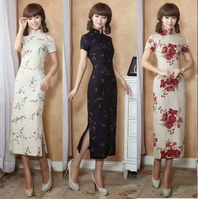 Retro Thin Linen Short Sleeve Cheongsam