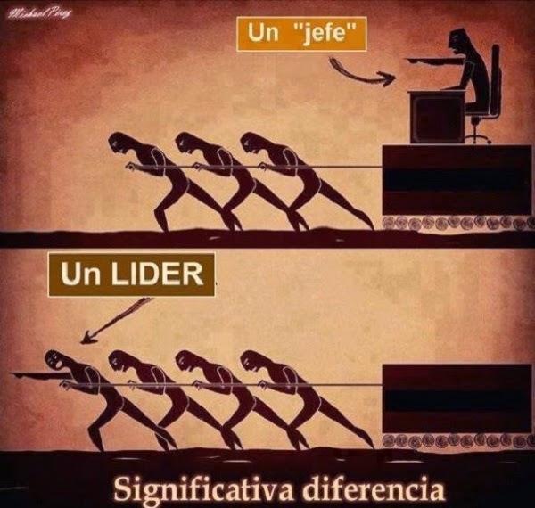 Diferencia entre un jefe y un lider