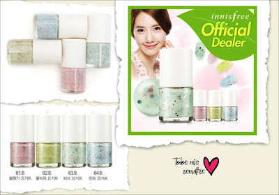 innisfree eco nail color yogur set