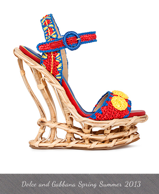 Dolce and Gabbana Spring Summer 2013 Runways shoes inspired by Sicilian Carts