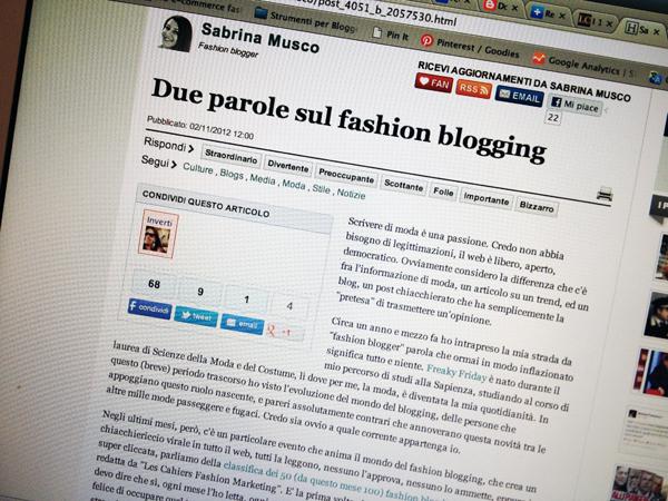 Sabrina Musco on Design and fashion recipes