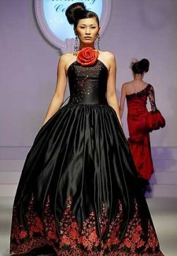 Wedding dress black and red wedding dresses design for Red dresses for weddings bridesmaid