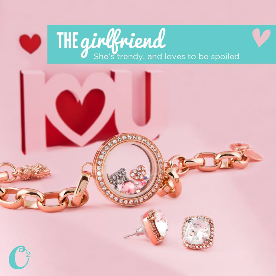 "Rose Gold ""The Girlfriend"" Origami Owl Living Locket Bracelet from StoriedCharms.com"