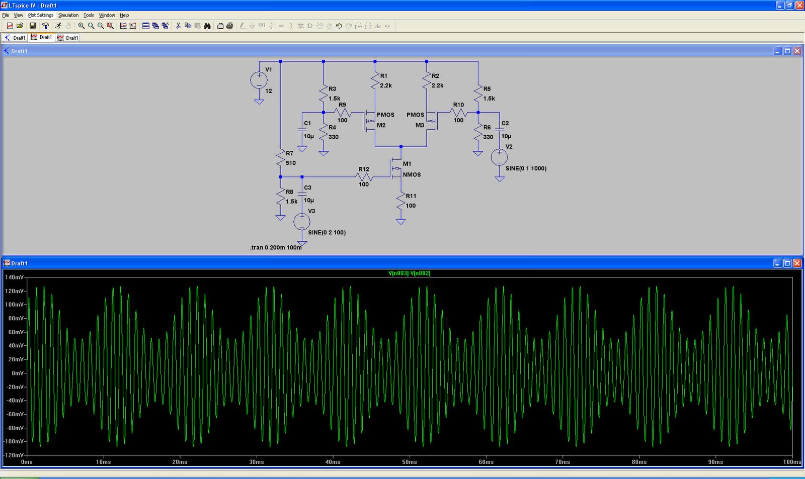 Simulation: Single Balanced Modulator | Misadventures of