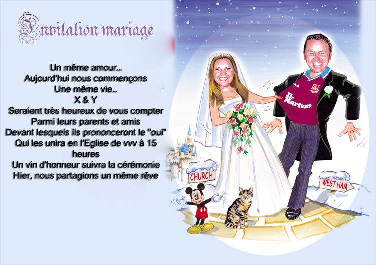 Invitation mariage drole et original invitation mariage - Texte felicitation mariage original ...