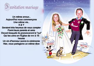 Invitation mariage drole et original