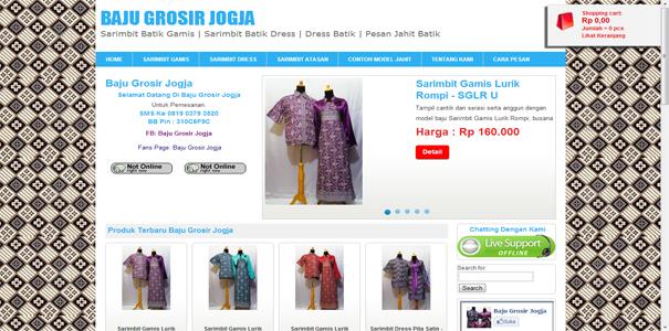 batik, polisi online