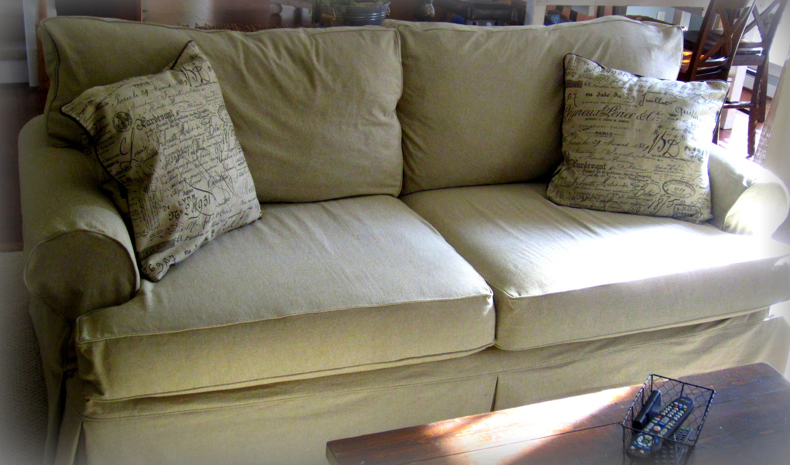 Down to Earth Style: New Sofa Slipcover