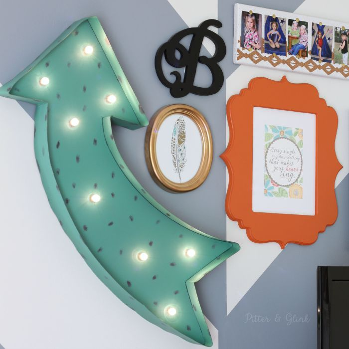 How to Create a Fun & Eclectic TV Gallery Wall Using Decor from Graham & Brown |sponsored| www.pitterandglink.com
