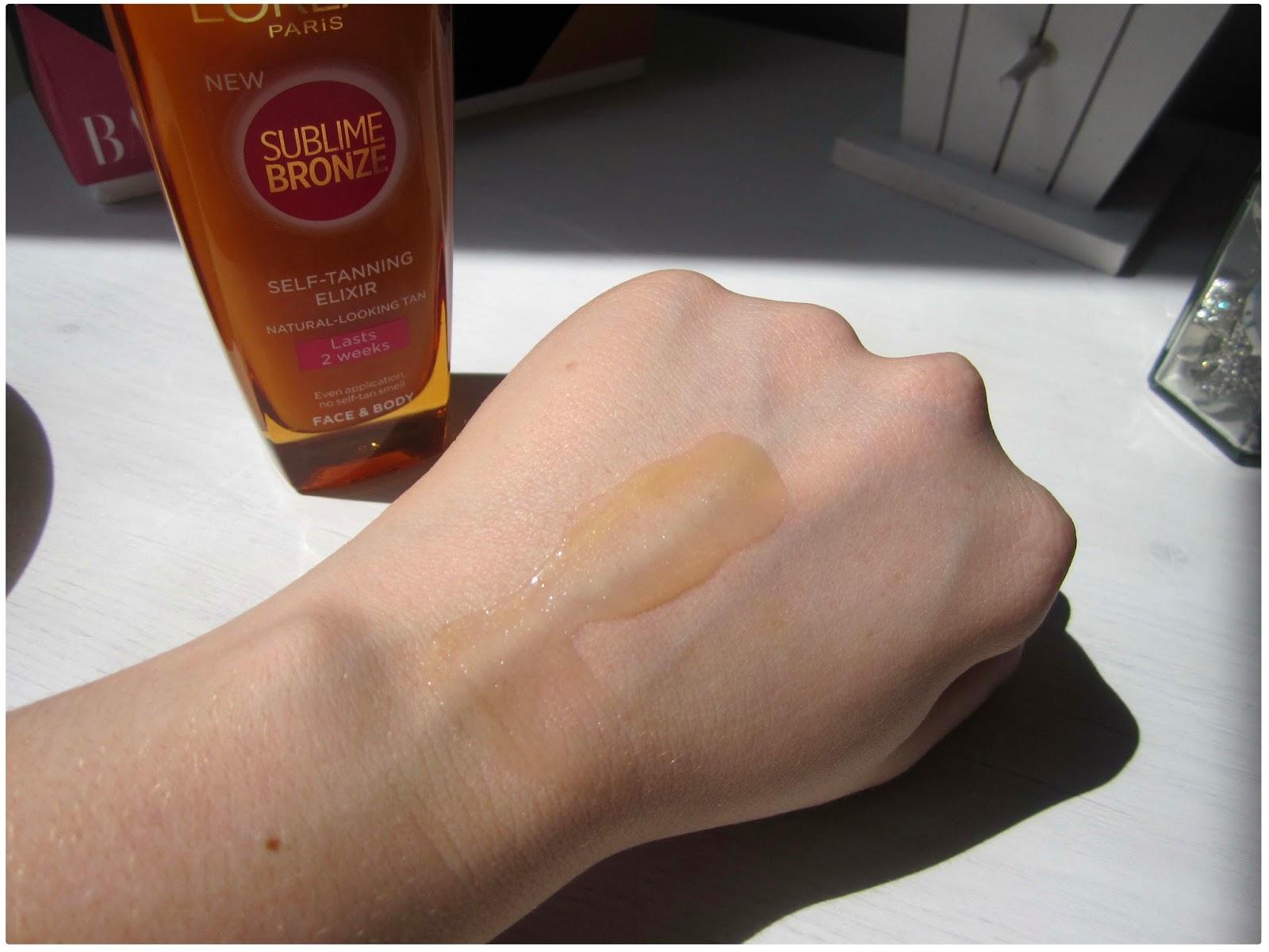 LOreal Sublime Bronze Self Tanning Gel Reviews | Fake Tan ...