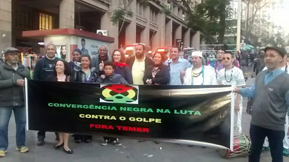 Ato Público da Convergência Negra, em Porto Alegre, dia 12 de agosto