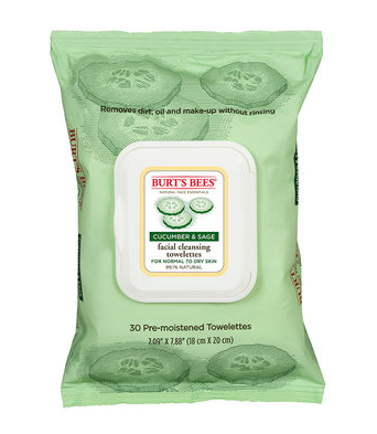 Burt's Bees, Burt's Bees Cucumber & Sage Facial Cleansing Towelettes, cleansing wipes, cleanser, skin, skincare, skin care, beauty product review