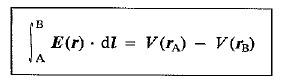 potencial eléctrico asociado a un campo eléctrico
