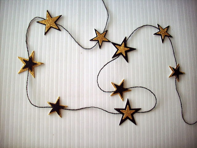 string stars My Halloween Mantle and Halloween Banner from American Crafts