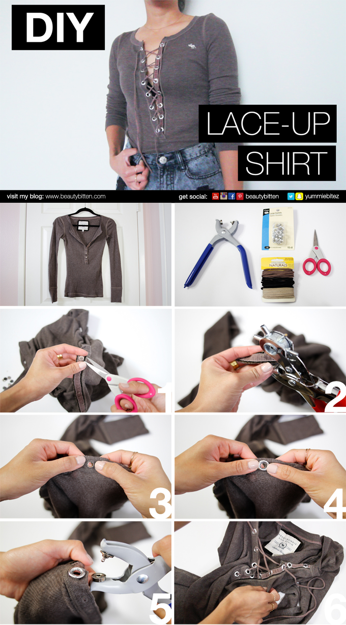 DIY Laced-Up Shirt Instructions