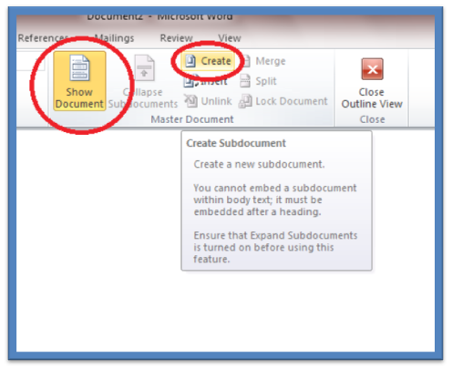 link pdf into word master file