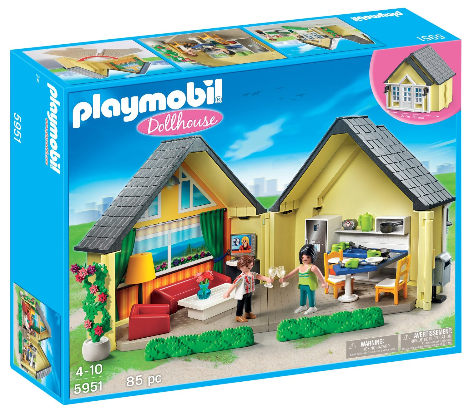 Brickstoy new playmobil item lanuched playmobil dollhouse 5951 for Maison moderne playmobil