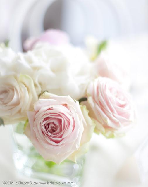 Rose Avalanche E Ortensie : Le chat de sucre matrimonio il bouquet