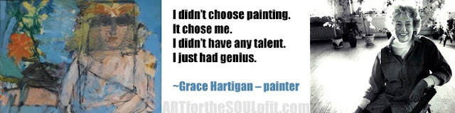 grace hartigan quote i didn't choose painting...