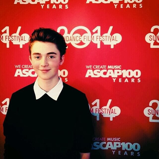 Greyson Chance on the Sundance red carpet - 2014