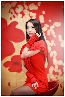 Seo You Jin Korean Sexy Model hot red mini robe 10