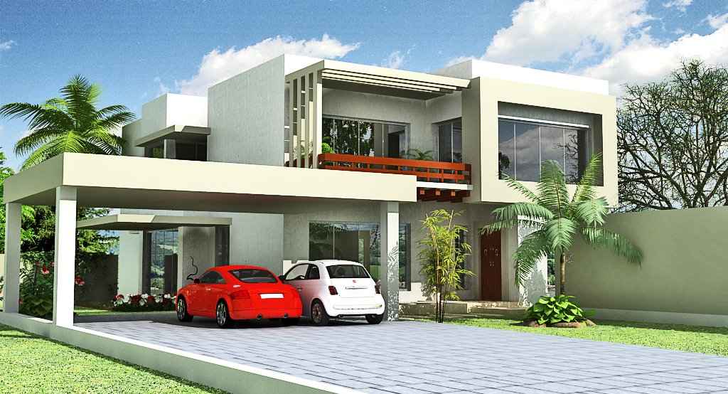 D Home Front Elevation Software : Modern house elevations in india