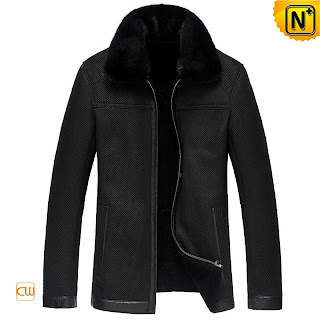 Men Black Fur Jacket