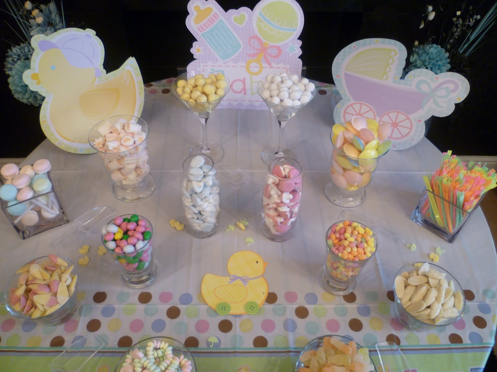 little puddings baby shower candy buffet