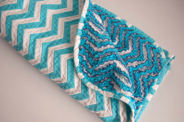chevron chenille blanket sewing tutorial
