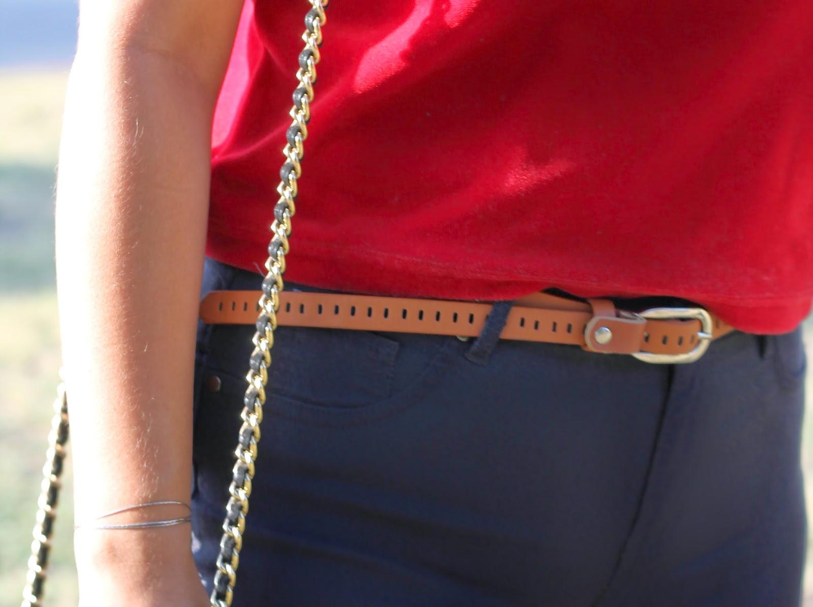 skinny brown belt