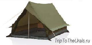 Пример двускатной палатки
