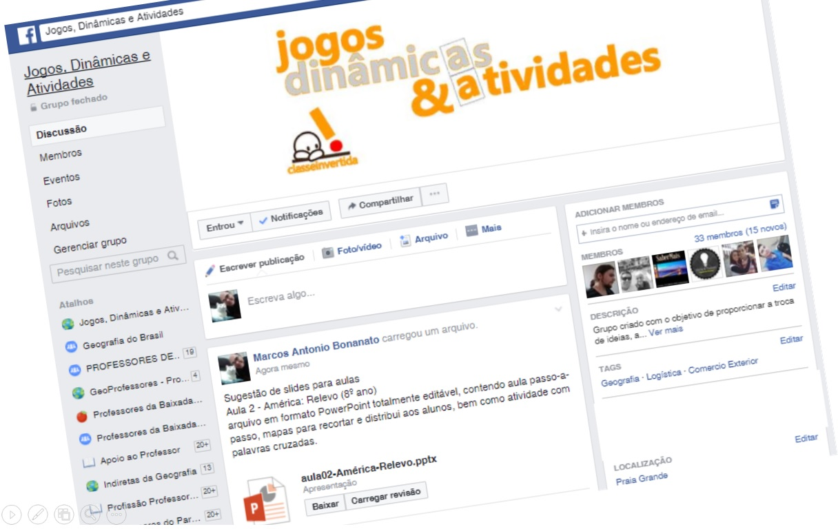 nosso grupo no Facebook!