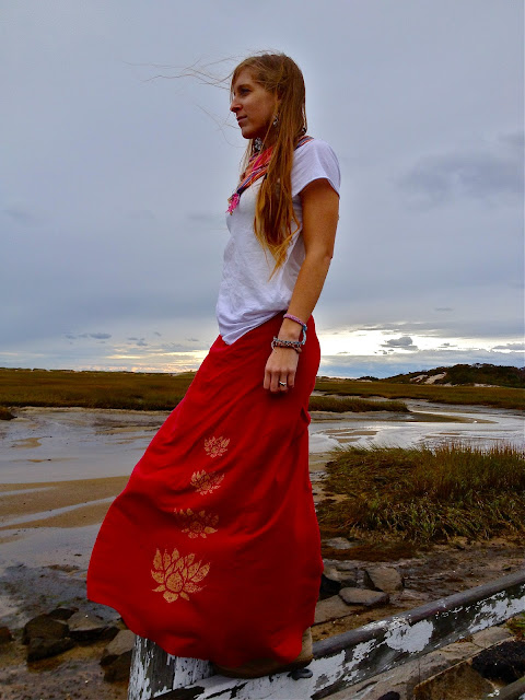 lotus+flower+maxi+skirt - Lotus Stack Organic Maxi Worn Short or Long