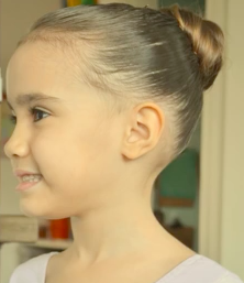 Little Girl Ballerina Hairstyle (A Tutorial)