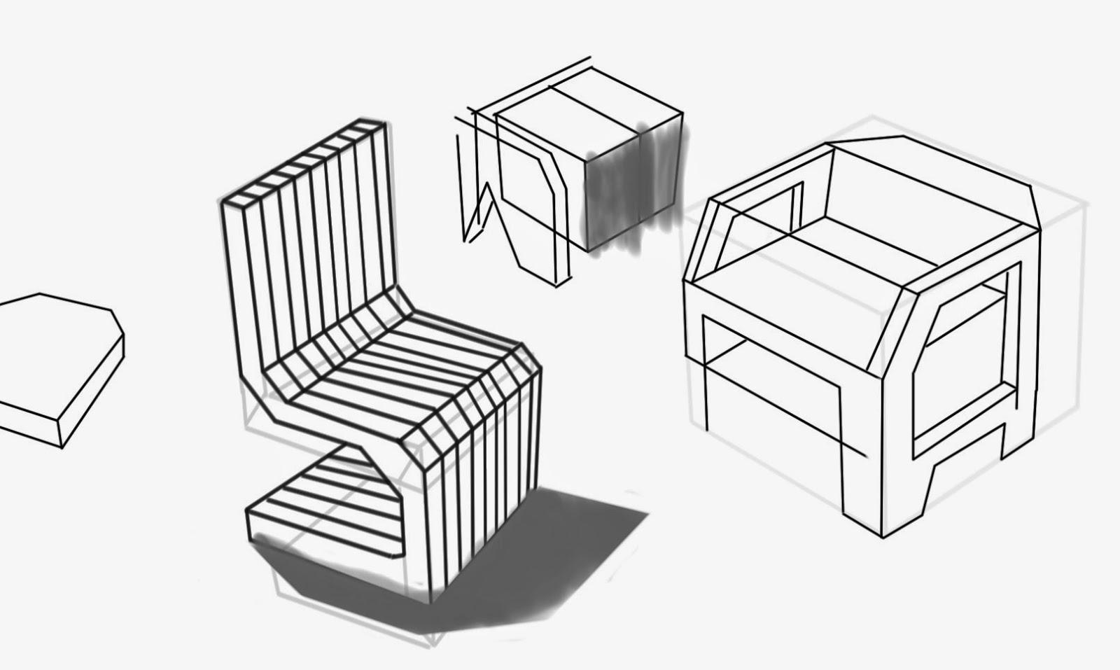 Es ketch bocetos r pidos de muebles furniture sketch for Trazos muebles