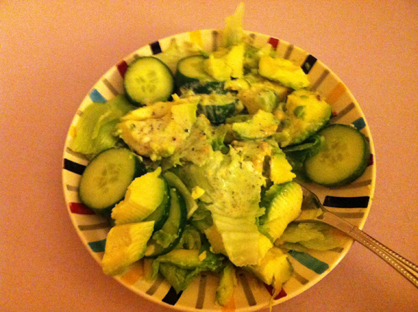 A recipe on a healthy green salad