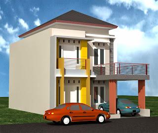 desain model rumah minimalis 2 lantai terbaik 2016/2017