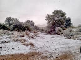 Salju di Gurun, Gurun Namibia, Afrika
